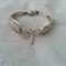 Bracelet made from vintage silver plated forks
