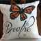 """Hand Painted Breathe 14"""" Cushion Cover"""