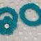 Floral Hair Ties - Crocheted