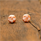 Pale peach and copper flake polymer clay earrings