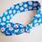 Tie Up Head Band - Little Daisy Blue -