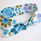 Tie Up Head Band - Blue Retro Flower -
