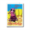 Girl Birthday card personalized -any NAME & AGE. bee sitting on a flower