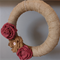 Floral Wreath- Burgundy and natural hessian wreath 37cm