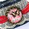 Lace & Denim Cuff Bracelet - free postage - believe in possibility