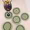 Set of 6 Cotton Blend Crochet Coasters