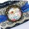 Lace & Denim Cuff Bracelet - free postage - beauty around you...