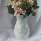 Pastel Mint Mosaic Vase with pretty white flowers