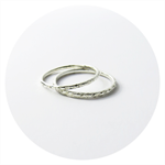 Textured Stacking Ring Set / Two Solid Sterling Silver hammered Rings