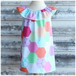 Size 5,6 - Cute Patchwork Dress