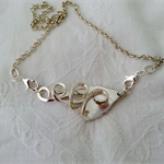 Necklace made from vintage silver plated fork