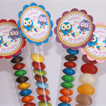 8 Pack Boy Girl Hoot Owl Tube Birthday Party Favour
