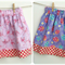 Size 1 Girl's Reversible Skirt Pink Ballet Slippers and Purple Beatles
