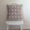 50 cm Geo Taupe&White (Warwick) cushion - Handmade