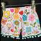 Summer Flower pom pom shorts. Size 1
