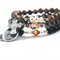 St Dymphna St Therese + Cross. NURTURE ME Bracelet Stack. Meaningful healing