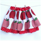Size 6 Girl's 2 Tiered Skirt Red Apples with Red Spots