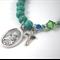 St Maria Goretti Bracelet Catholic turquoise bracelet Saint Maria Goretti