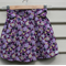 Size 4-5yr Japanese purple blossom box pleat skirt