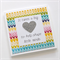 Teacher Card - Teacher Gift 'It takes a big heart' Geometric Arrows Silver Heart