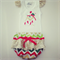 Christmas Sequin ruffle bum Nappy Cover & Singlet Set avail in Sizes 0000 - 2