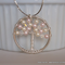 Swarovski Crystal and Pearl Handmade Twisted Wire Tree Pendant Necklace – Rosali