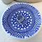 Blue porcelain lace bowl. Jewellery dish. Ring holder. Ceramic bowl.