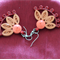 Quilling Hanging Earrings - Red color