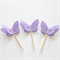 12 Butterfly Cupcake Toppers Purple Cake Picks