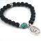 SAINT CHRISTOPHER Black Onyx + Turquoise bracelet - Safe Travels farewell gift