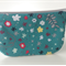 lined zipper pouch / purse (small) {teal green floral}