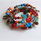 Enchanted Wood Magnesite, Wood & Charm Memory Wire Bracelet
