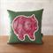 Wombat cushion // Wombat front + back cushion cover // Australian animal pillow