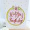 Happy Birthday card Floral Circle