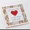 Teacher Card - Teacher Gift 'It takes a big heart' Kraft with Red Heart