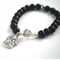 Our lady Bracelet. Black onyx + freshwater pearl catholic prayer bracelet