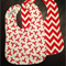 Lobsters and red chevron bib combo