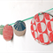 Hand printed paper bunting // Festive garland // Party decoration