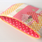 lined zipper pouch / purse (large) {yellow, pink, red, birds}