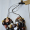 Black metallic necklace, geometric necklace, extra chunky statement industrial