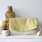 Fold-over clutch purse - linen and cotton green leaf print
