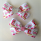 Strawberry Shortcake Hair Bow Clip with Heart bling