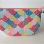 lined zipper pouch / purse (large) {colourful}