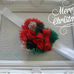 Christmas chiffon heart headband