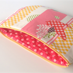 lined zipper pouch / purse (large)
