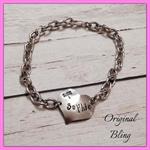 Personalised Hand Stamped Kids Name Bracelet