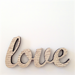 LAST ONE! Love Letter Wooden Freestanding Script Word Brown Home Decor