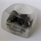 Nature book paper chatterbox origami clear resin RING SZ S
