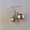 Sterling Silver Earrings with Sterling Silver Plated Solid Balls