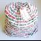 CHRISTMAS SANTA SACK ~ MERRY CHRISTMAS  ~ with a re-usable matching gift tag